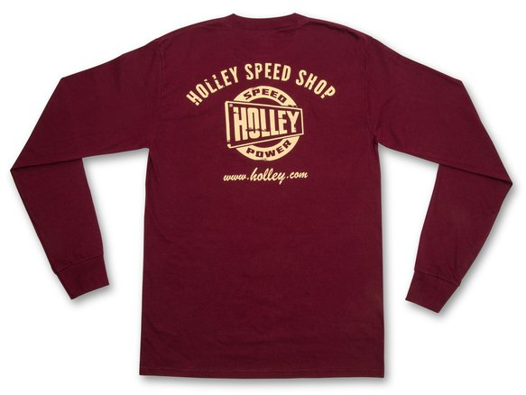 10130-MDHOL - Holley Speed Shop Long Sleeve Maroon Tee Image