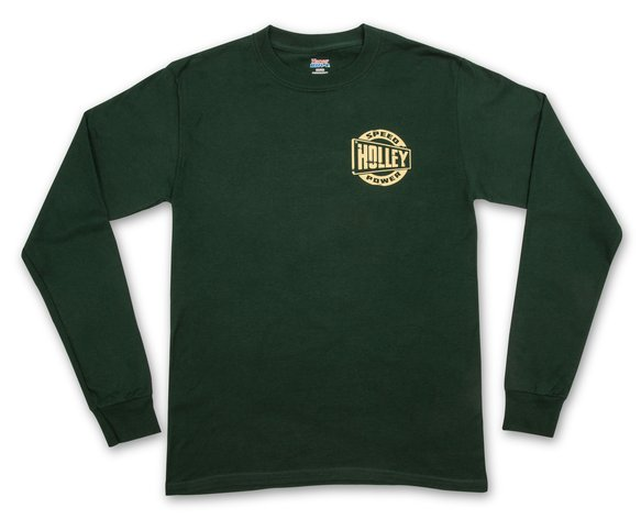 10131-XXLHOL - Holley Speed Shop Long Sleeve Forest Green Tee - additional Image