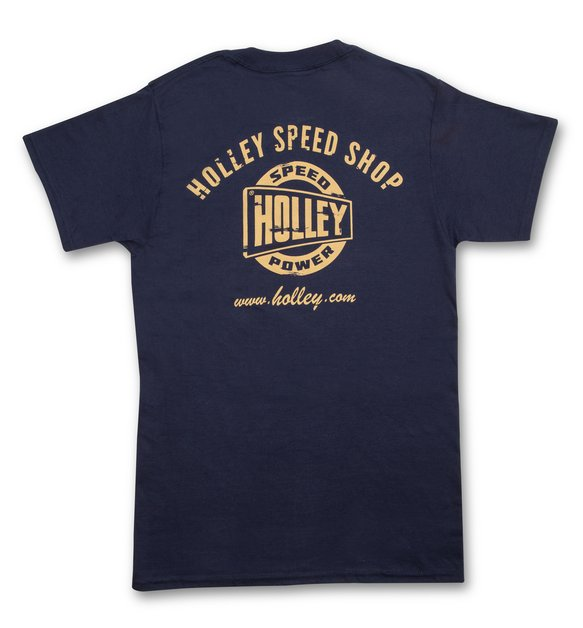 10132-SMHOL - Holley Speed Shop Navy Blue T-Shirt Image