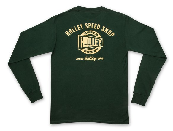 10131-LGHOL - Holley Speed Shop Long Sleeve Forest Green Tee Image