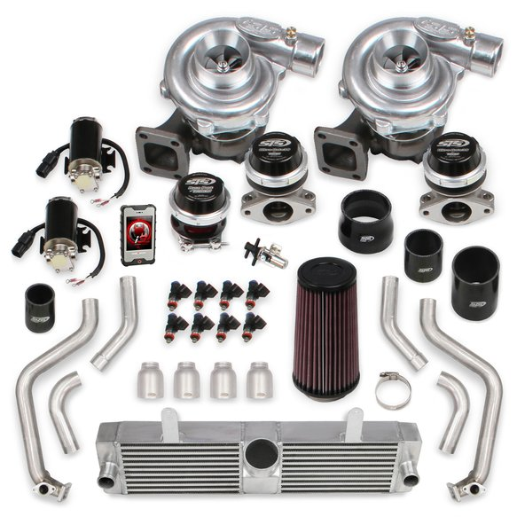 STS2003T - STS Turbo Rear Mounted Twin Turbo System with tuner & fuel injectors (Tuning Kit) Image