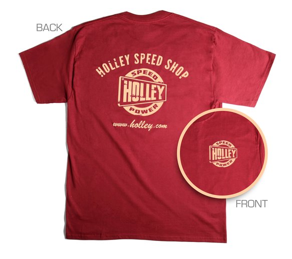 10024-XXLHOL - Red Holley Speed Shop T-Shirt (2X-Large) Image