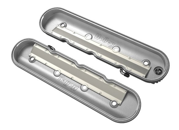 241-131 - Vintage Series Finned LS Valve Covers, Standard Height - Polished - additional Image
