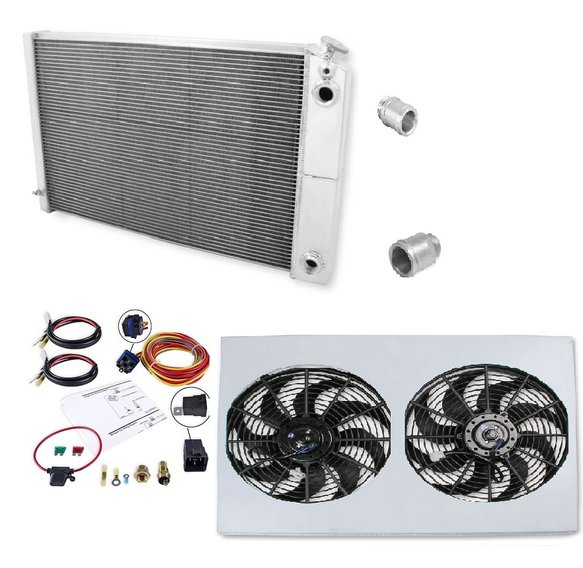VK010004 - Frostbite Aluminum Radiator - 3 Row LS Swap + Fan/Shroud/Fittings Image