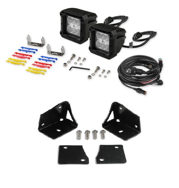 VK020004 - Bright Earth LED Cube Light Kit - Jeep Wrangler JK Image