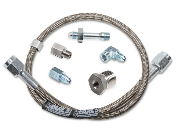 VK040012 - Gauge Hose Kit - Stainless Steel with Adapters - 72