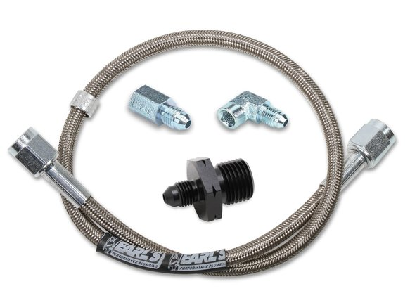 VK040015 - Gauge Hose Kit - GM LS w/ Stainless Steel with Adapters - 72