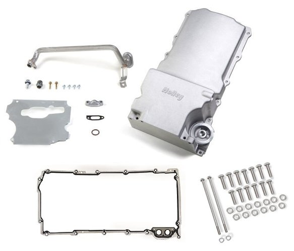 VK090000 - GM LS Retro-fit Oil Pan w/ Gasket & Bolts Kit - 1955-87 GM/Muscle Car/Classic Car/Trucks Image