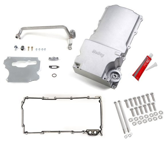 VK090000 - GM LS Swap Oil Pan w/ Gasket & Bolts Kit - 1955-87 GM/Muscle Car/Classic Car/Trucks Image