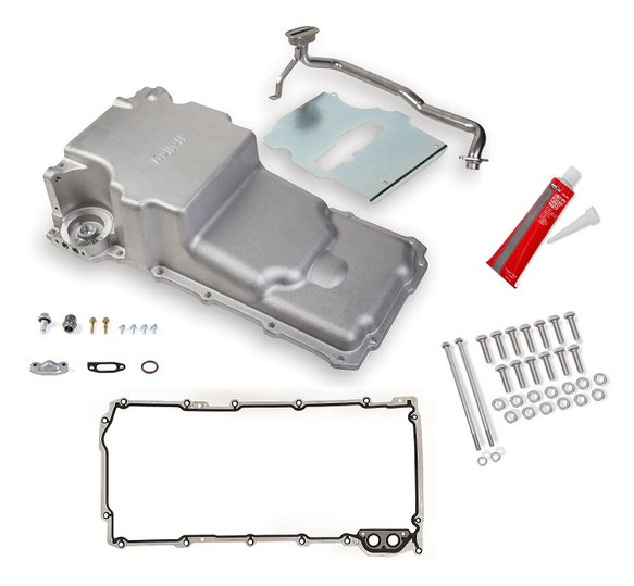 VK090001 - GM LS Swap Oil Pan w/ Gasket & Bolts Kit - additional front clearance Image