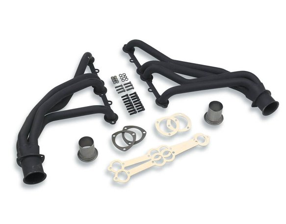WB10017 - White Box Long Tube Header - Black Painted - 1-1/2 Inch Primaries - 3 Inch Collector Image