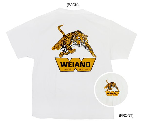 10006-MDWND - White Weiand Tiger T-Shirt (Medium) Image