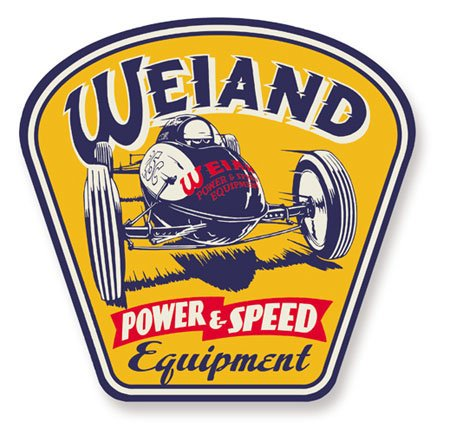 10004WND - Weiand Power & Speed Metal Sign Image