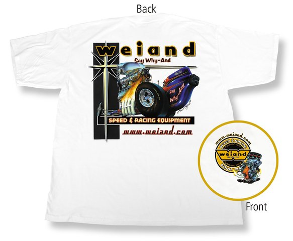 10000-SMWND - White Weiand Retro T-Shirt (Small) Image