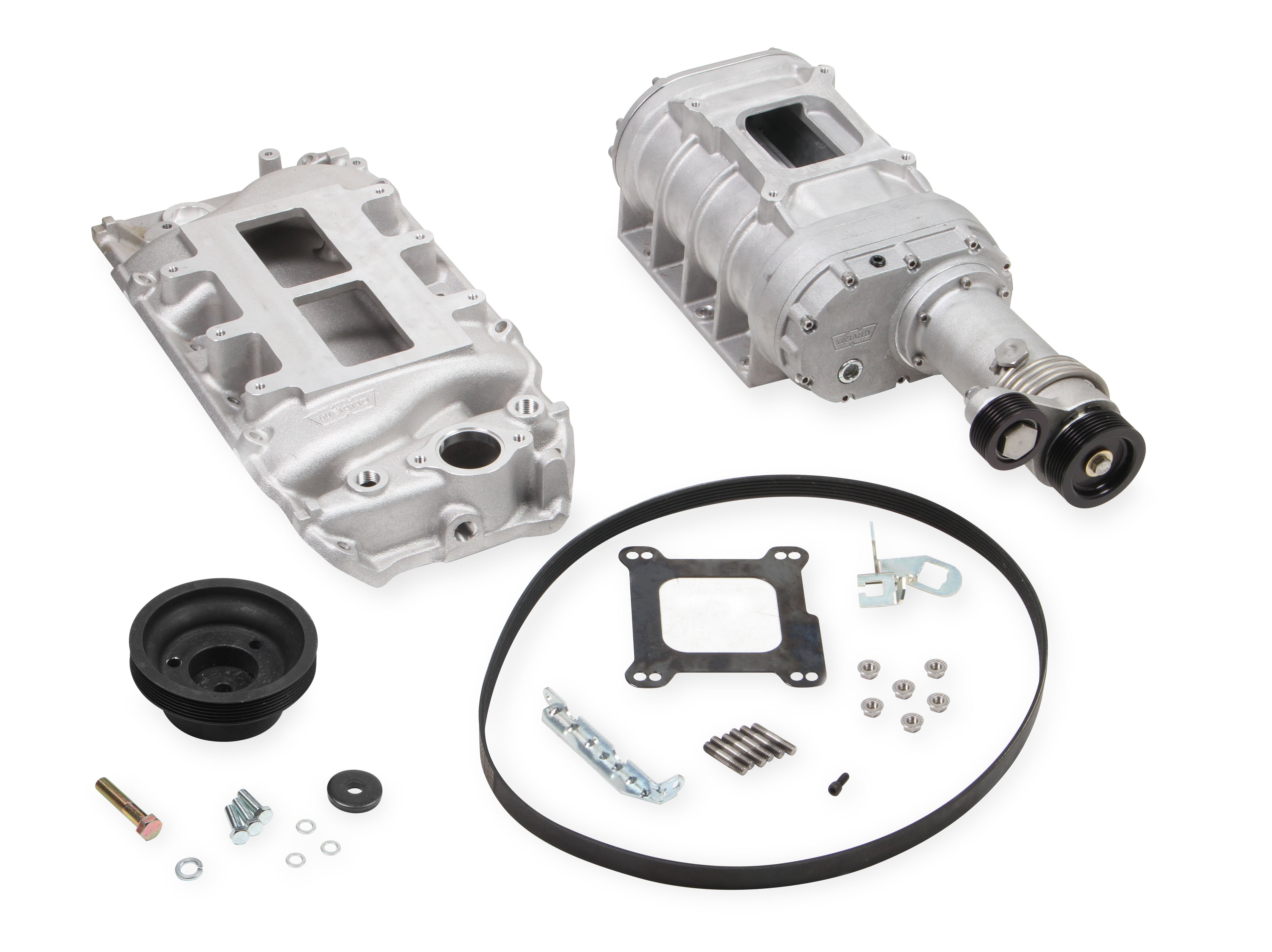 Weiand 177 Powercharger Kit - Short Nose - Satin