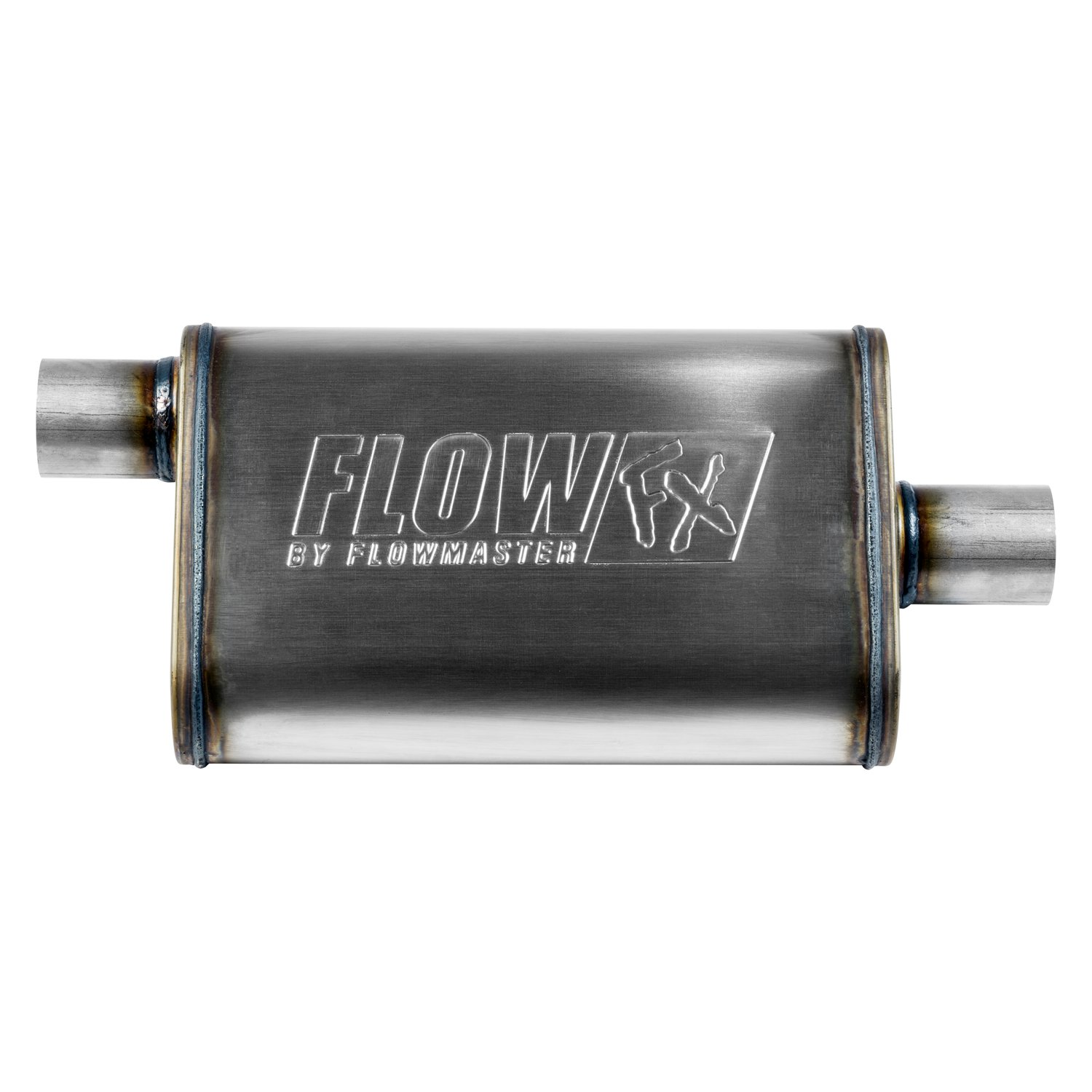 Inlet //Outlet Flowmaster FX Universal Stainless Steel Round Body Muffler 2.25in