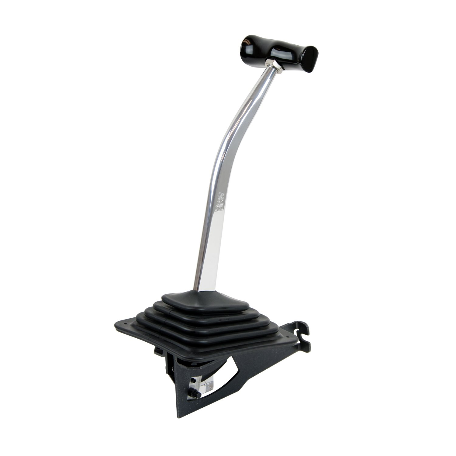 BRAND NEW B/&M AUTOMATIC DETENT SHIFTER,UNIVERSAL 3 /& 4 SPEED,CHROME PLATED WITH BLACK T-HANDLE,COMPATIBLE WITH GM TH400,350,250,200,700R4,4L60,4L60E,4L65E,4L80E AUTO TRANSMISSIONS