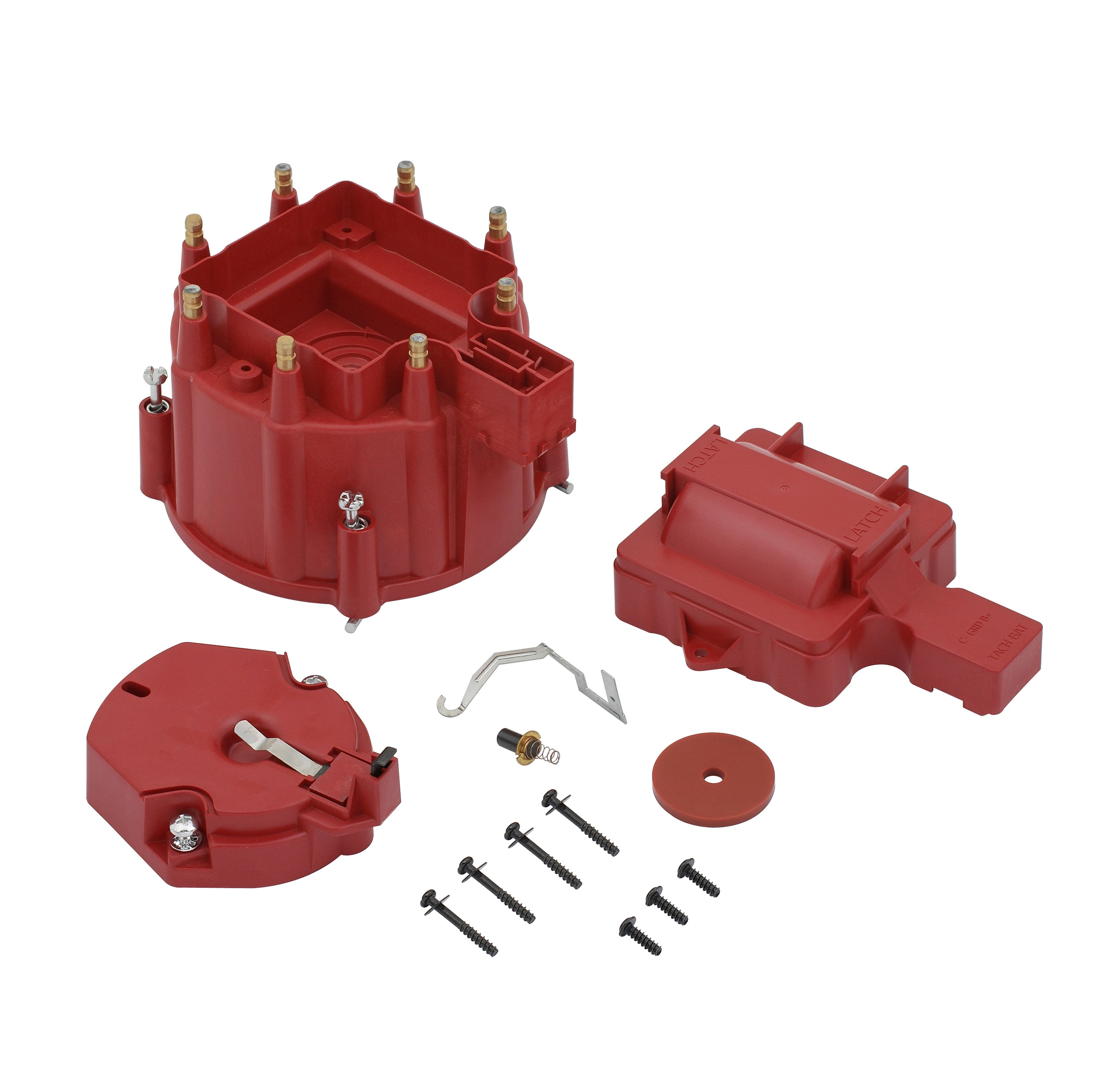 Accel 8141r Hei Corrected Cap Distributor For Gm Red 98 Chevy Truck Image