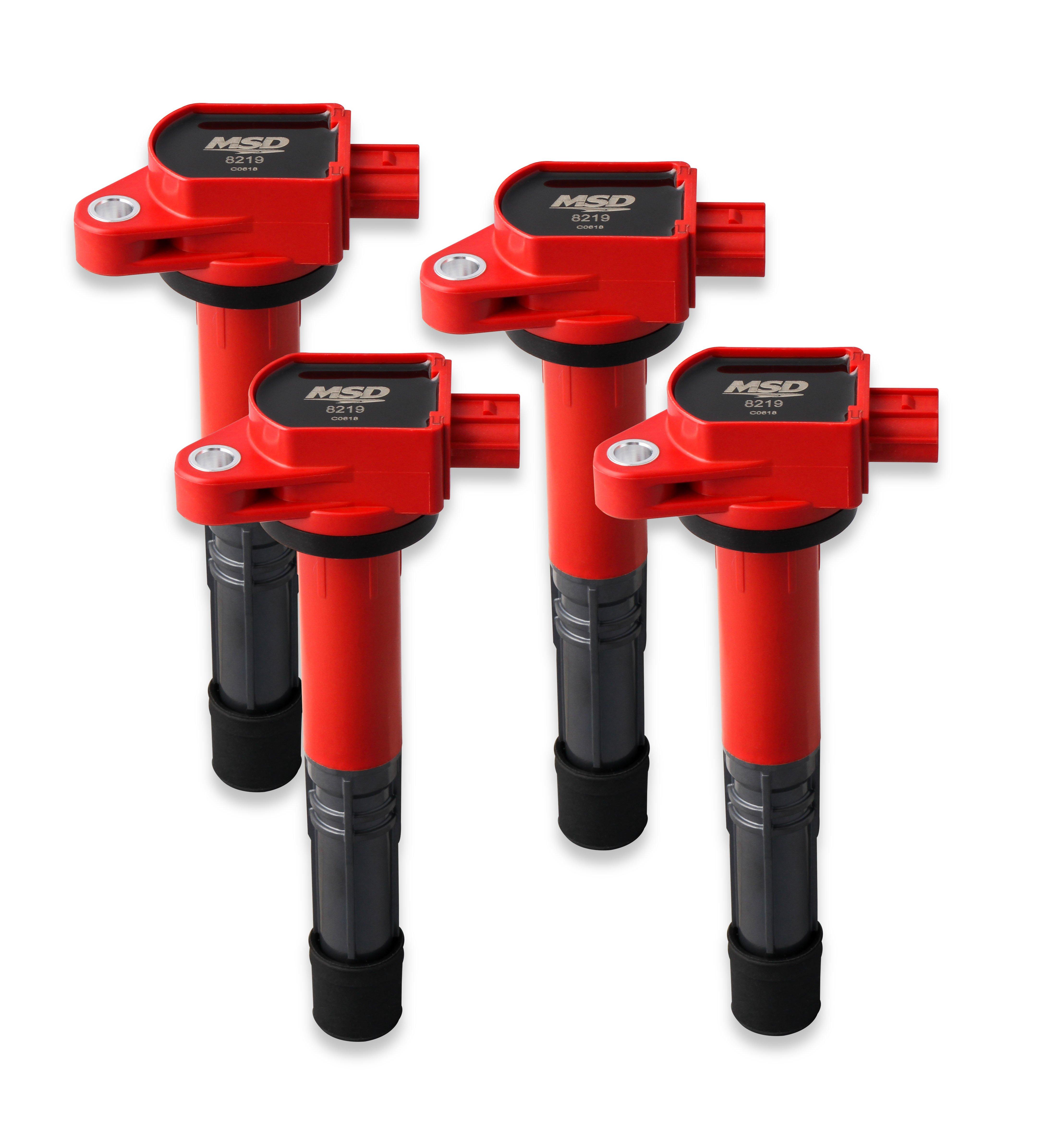 MSD 82194 Blaster Coil, 08-17 Honda/Acura 2.4L, Red , 4-Pack