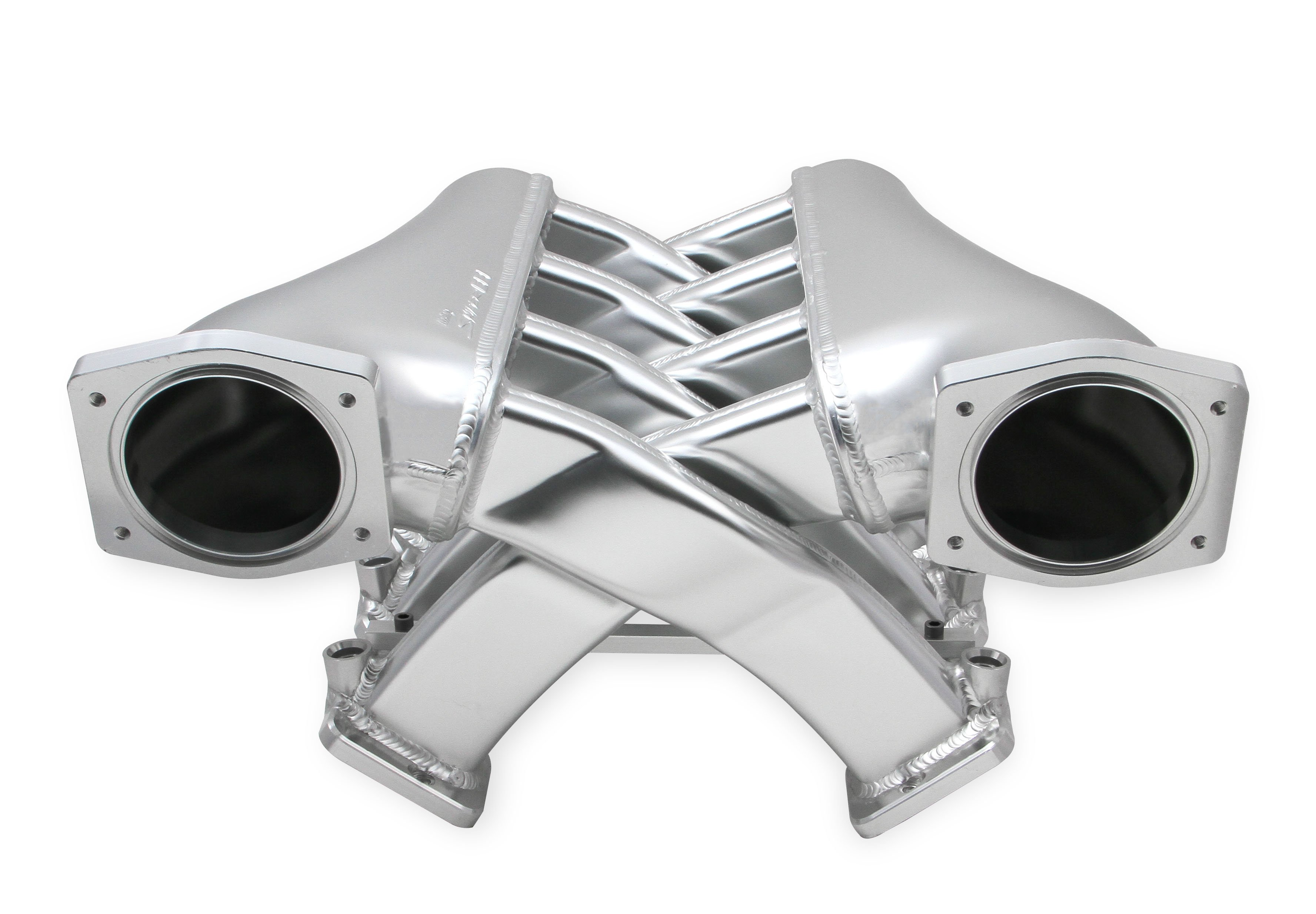 Sniper EFI Fabricated Intake Manifold Dual Plenum 92mm GM LS3/L92, TB  spacers, and Fuel Rail Kit - Silver