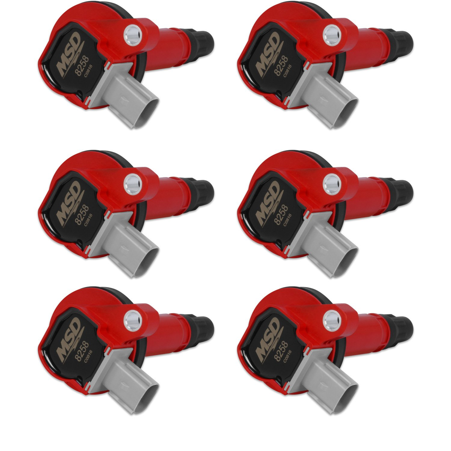 Ford Red EcoBoost 6-Pack Coils 3 5L V6 '10-'13 (2-Pin Connector)