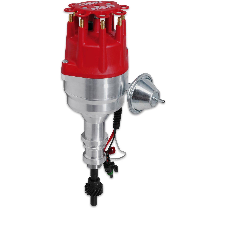 msd ford w ready to run pro billet distributor steel gear 83541 ford 351w ready to run pro billet distributor steel gear image
