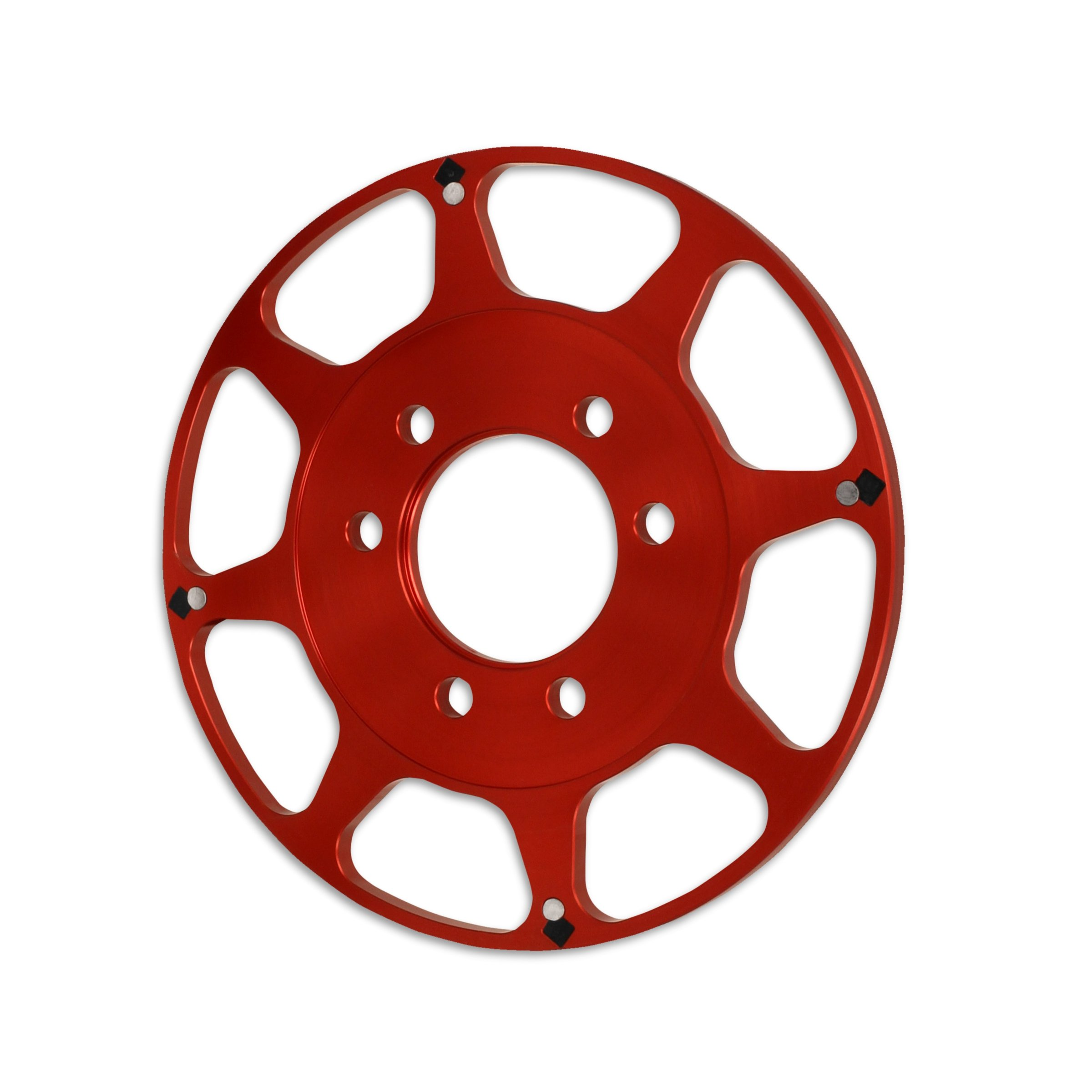 "MSD 8621 Big Block Chevy 8"" Crank Trigger Wheel, Red"