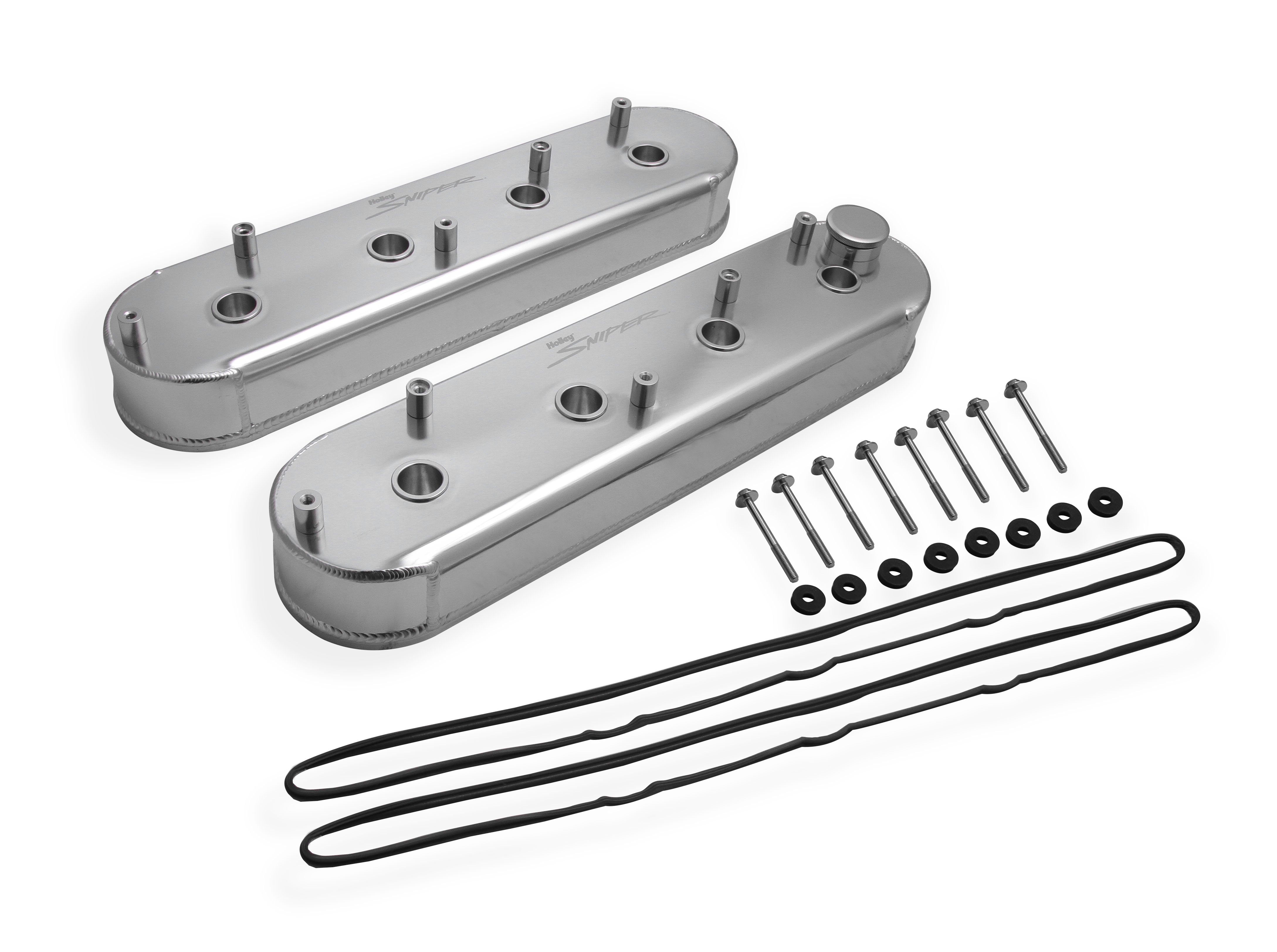 Sniper Fabricated Aluminum LS Valve Covers - Silver