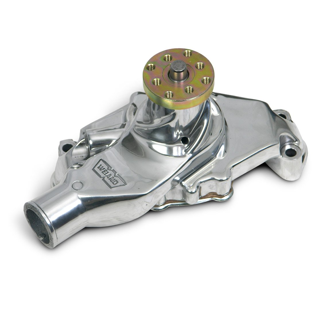High Volume Long Water Pump for Chevy Small Blocks Polished Aluminum