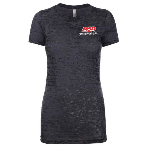 94572 - MSD Racing, Ladies' Burnout T-Shirt, Black, Medium Image