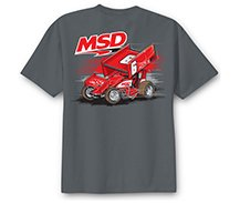 95114 - MSD Sprint Car T-Shirt, Grey, Medium Image