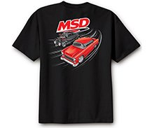 95116 - MSD Racer T-Shirt, Black, Medium Image