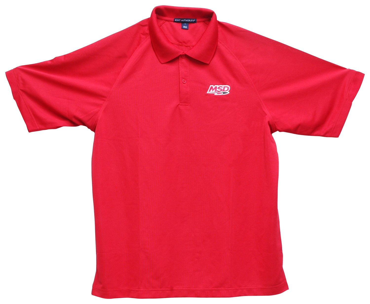 95121 - MSD Polo Shirt, Red, Large Image