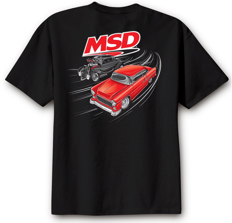 95126 - MSD Racer T-Shirt, Black, Large Image
