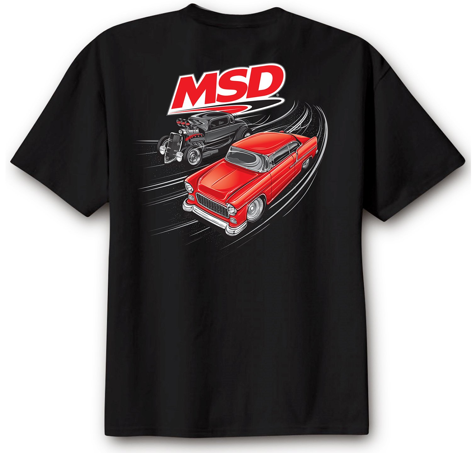 95136 - MSD Racer T-Shirt, Black, X-Large Image