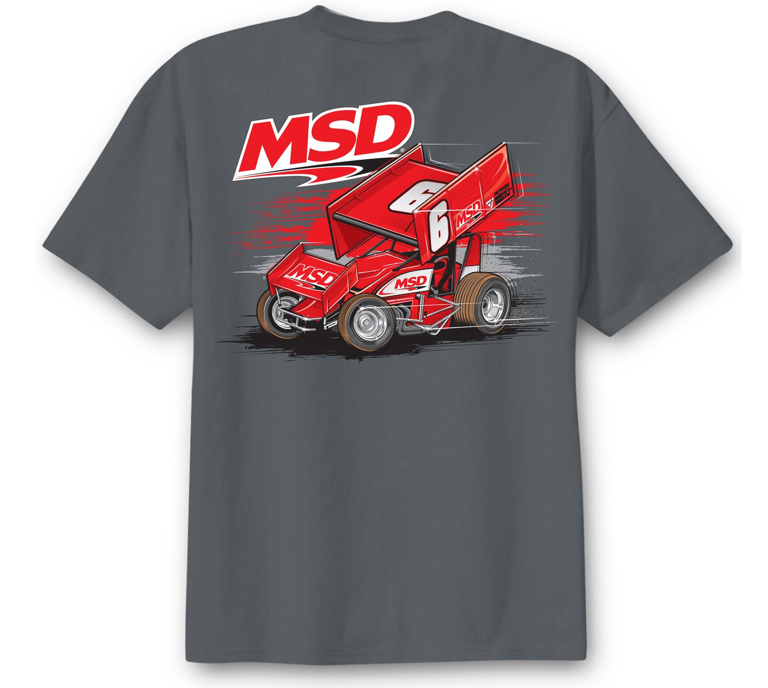 95144 - MSD Sprint Car T-Shirt, Gray, XX-Large Image