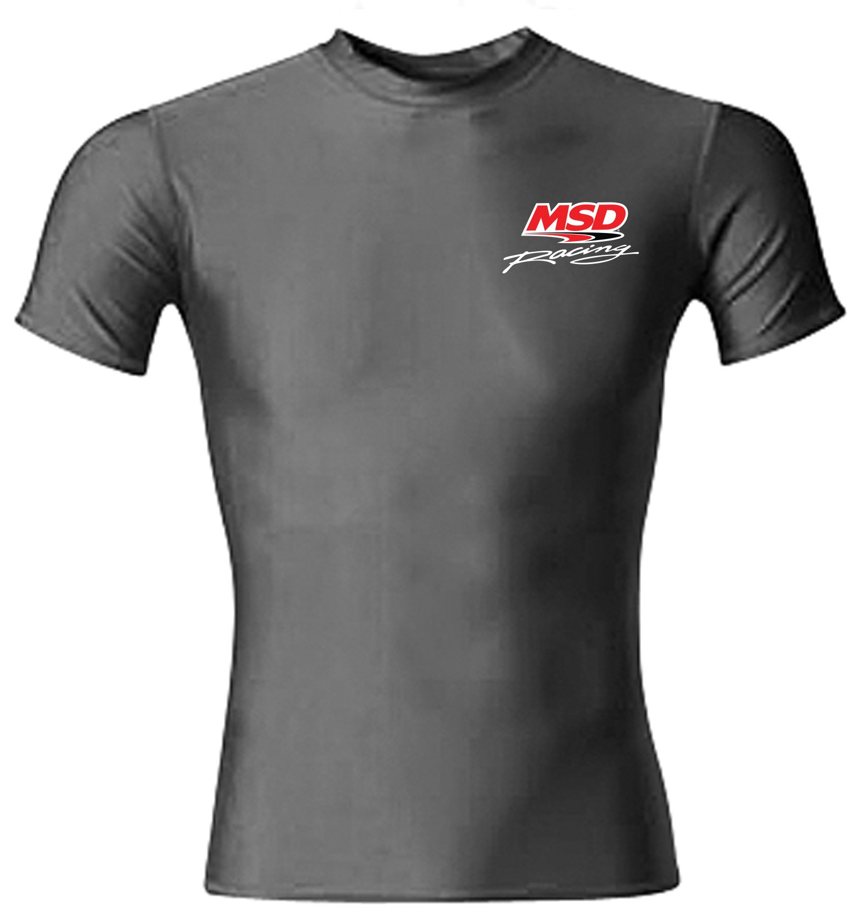 9545 - MSD Compression Crew Shirt, Black, Small Image
