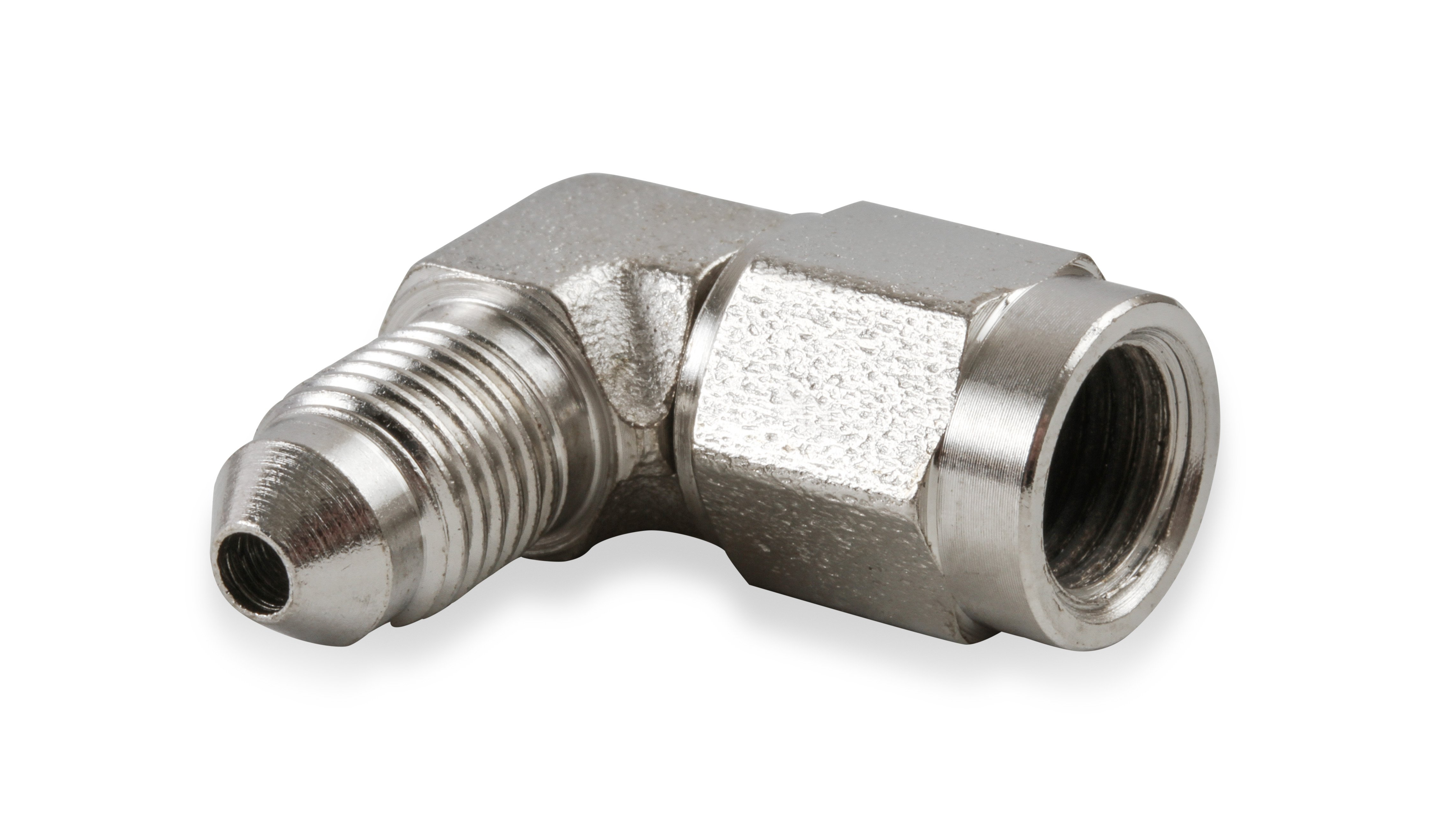 Earls Fitting Adapter 90 Degree 3AN Female Swivel 3AN Male Steel Natural 966303