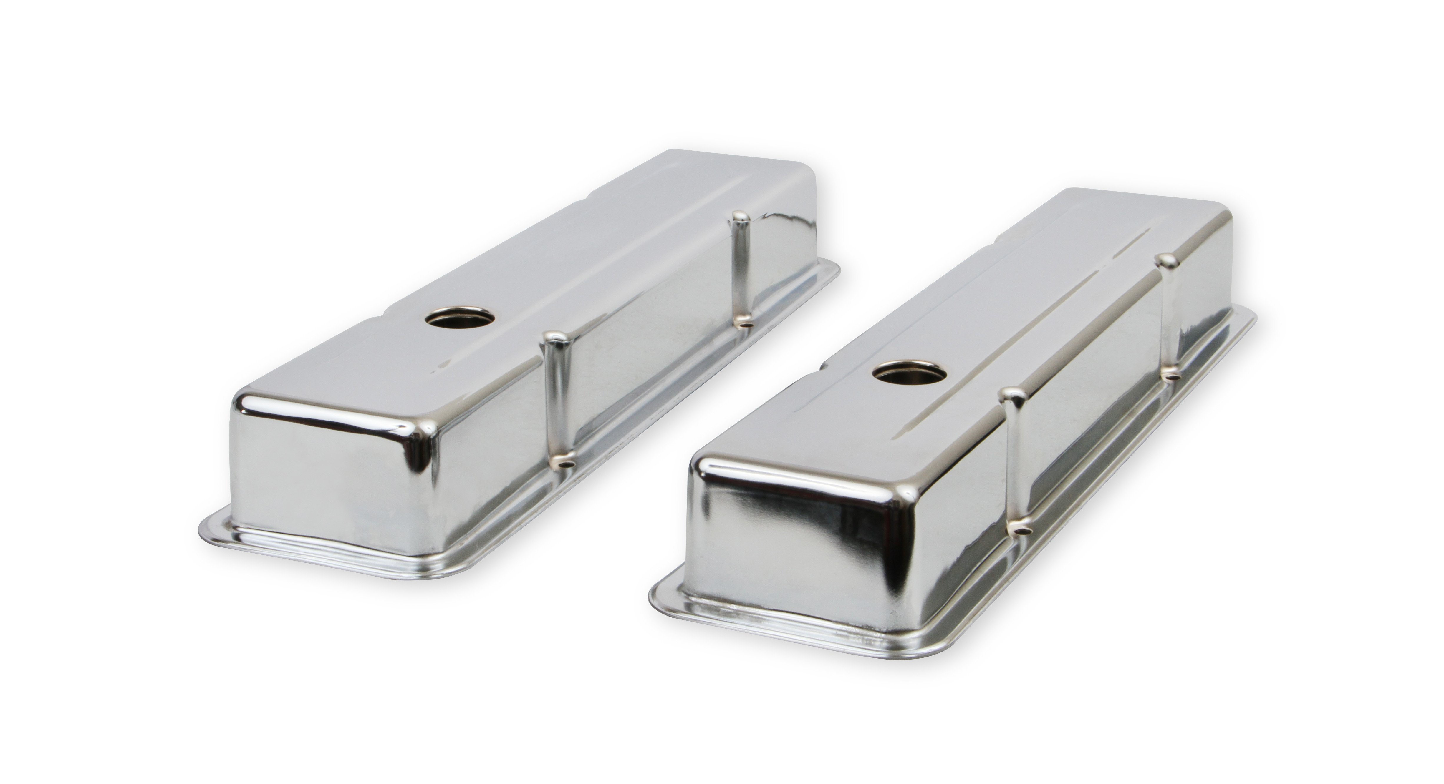 Mr. Gasket 9800 Chrome valve covers for 1958-86 Chevy small block ...