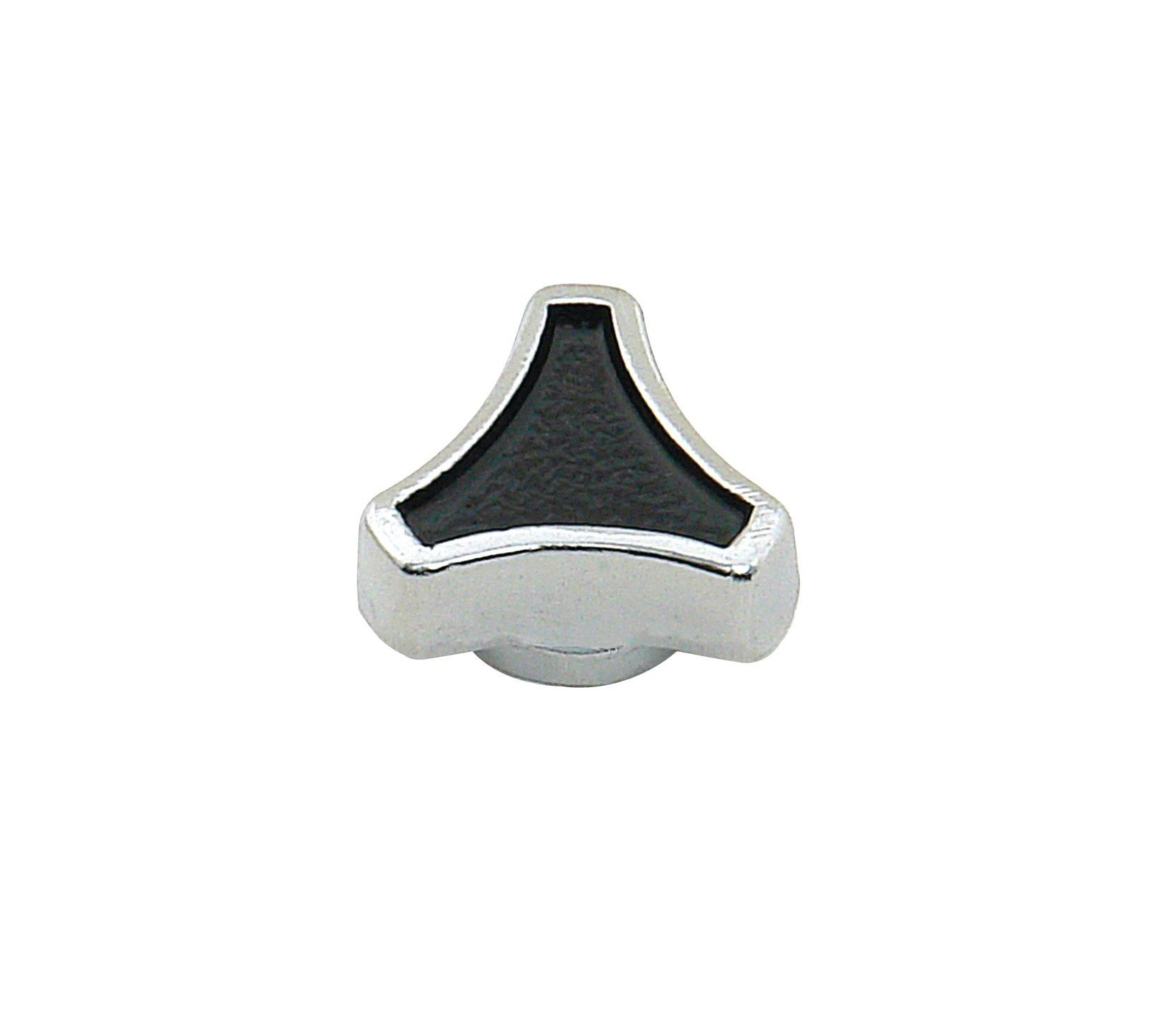 Chrome Mini Screw on Spinner Air Cleaner Nut Die Cast Metal