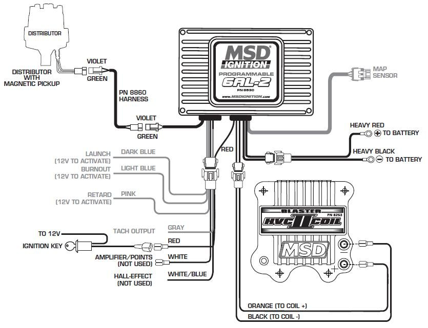 msd 8362 distributor wiring diagrams