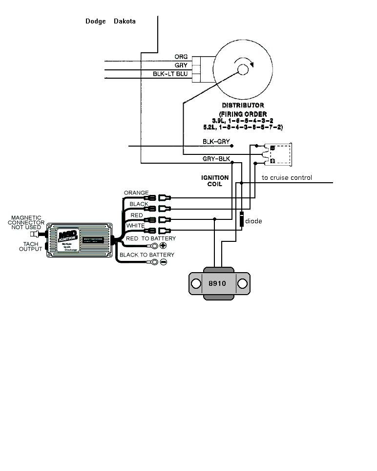 1999 Dodge Dakota Distributor Diagram, 1999, Free Engine