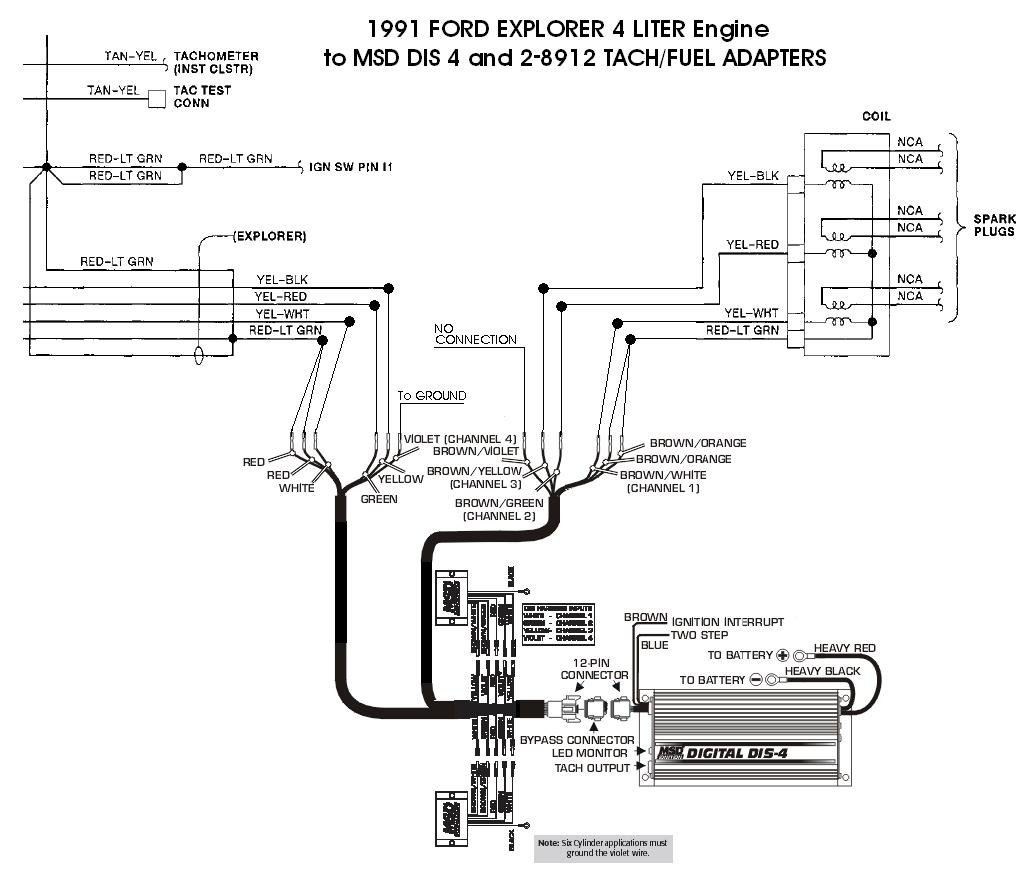 Wiring Diagram Of Msd Ignition 6ad Electrical Library Tach 6401 Ford 37