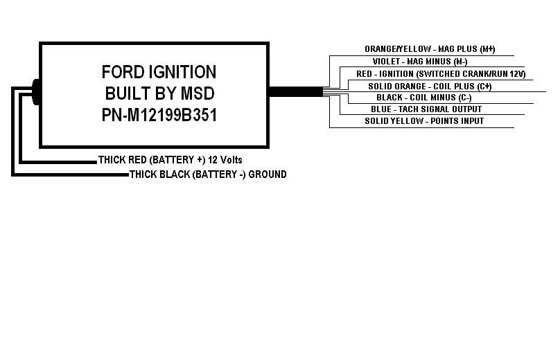 ford ignition built by msd labeled wires holley blog. Black Bedroom Furniture Sets. Home Design Ideas