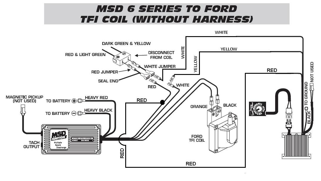 ford tfi to timing control to 6420 wo harness - msd blog ford tfi ignition wiring diagram 1989 ford f350 ignition wiring diagram #6
