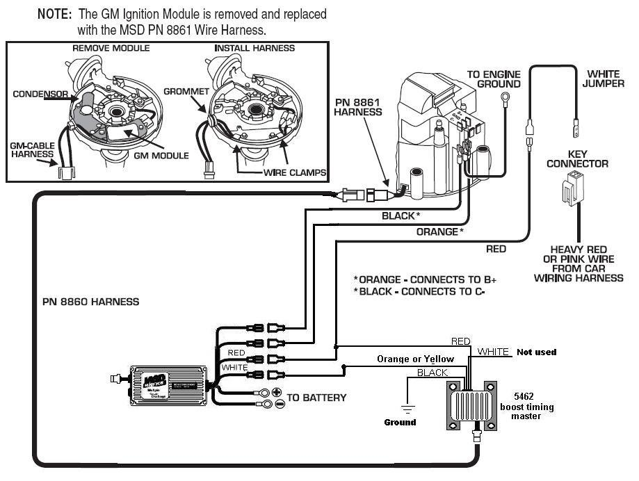 msd ignition wiring diagram 5462 to 6 series hei 4 pin - msd blog 350 chevy msd ignition wiring diagram #13
