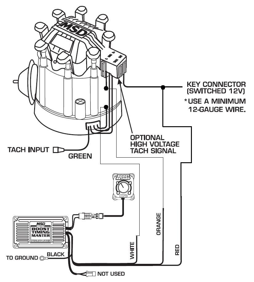 350 chevy msd ignition wiring diagram 5462 to hei distributor - msd blog