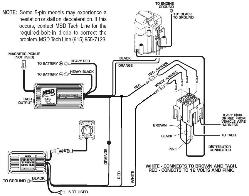 msd 6al wire diagram for 1996 chevy impalla 5 pin btm 6 hei - msd blog msd 6al wiring diagram for tach
