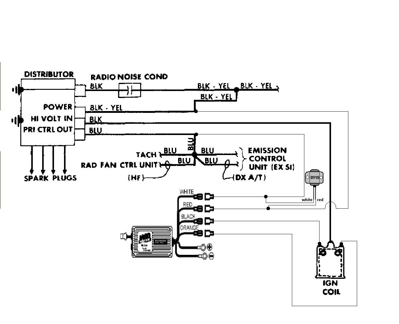 Honda Crx Tacho Wiring Diagram And Schematics Pri 1987 To 6 Series Msd Blog Sunlite Tach Aftermarket Tachometer