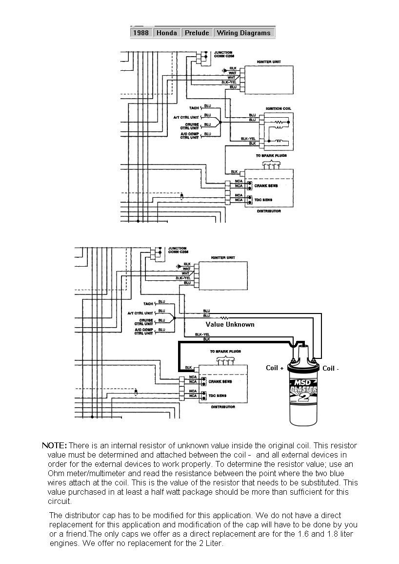 Msd Blaster 2 Wiring Diagram Coil And Distributor Image Honda Auto Reliable Ignition